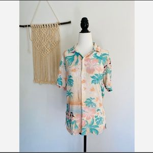 ASOS Hawaiian button up tee size 2XS
